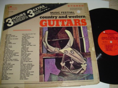 VARIOUS - COUNTRY & WESTERN GUITARS 0 TIME 3LP { C 61