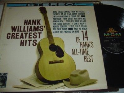 HANK WILLIAMS - GREATEST HITS - MGM { C 104