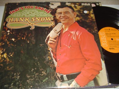HANK SNOW - THATS YOU & ME - RCA { C 109
