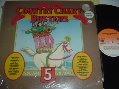 VARIOUS - COUNTRY CHART BUSTERS - RICH, WYNETTE - CBS { C 95