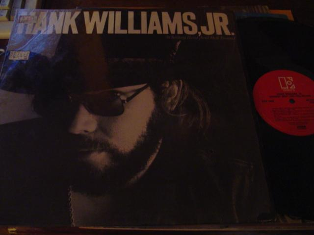 HANK WILLIAMS jnr - WHISKEY BENT - ELEKTRA { C 15