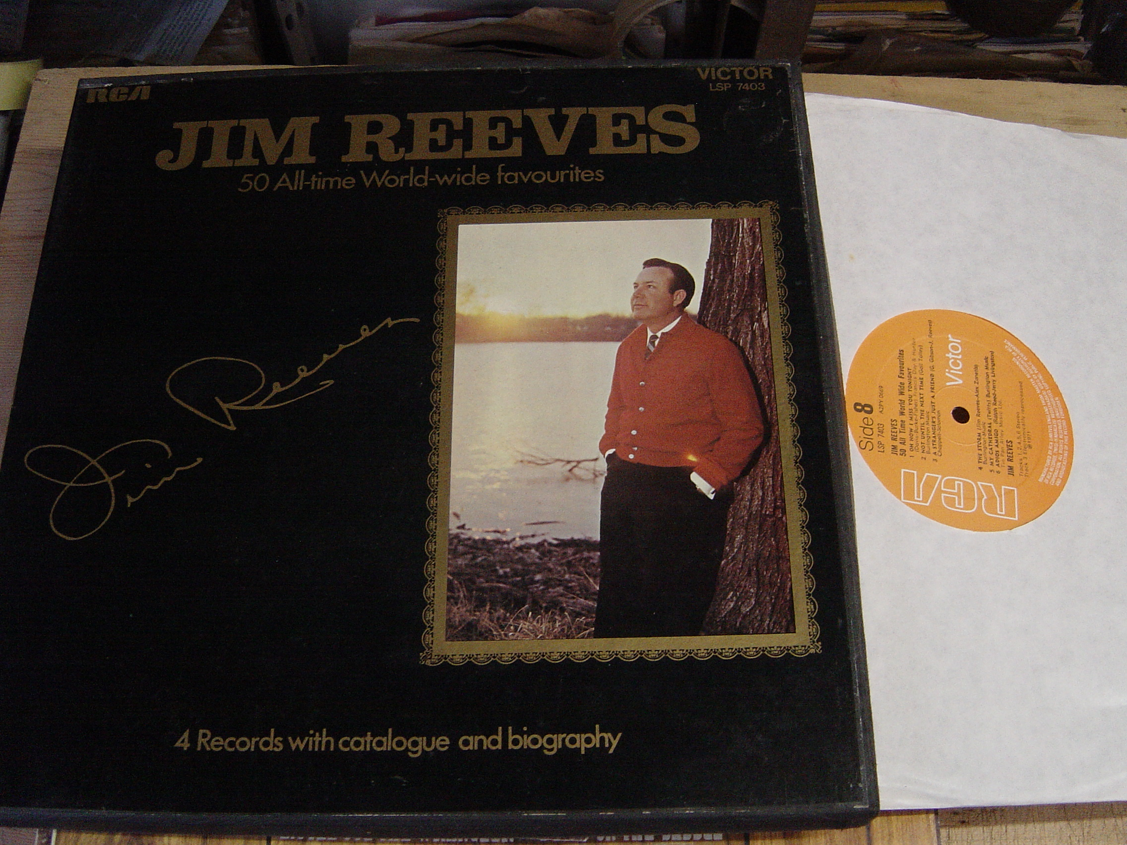 Jim Reeves - 50 All Time Favourites - RCA 4LP LSP 7403