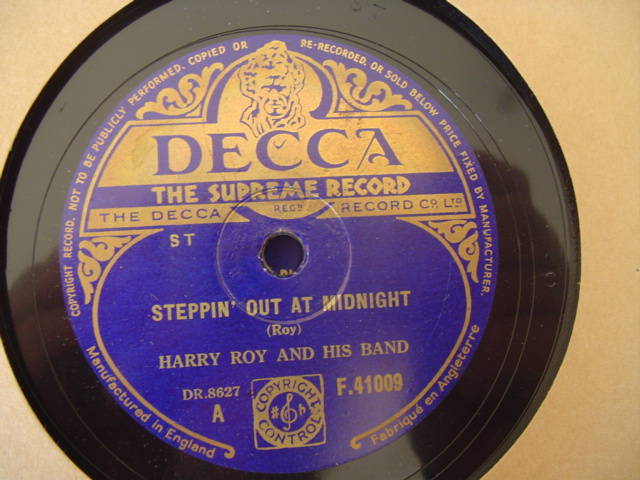 HARRY ROY - STEPPIN OUT AT MIDNIGHT - DECCA F 41009