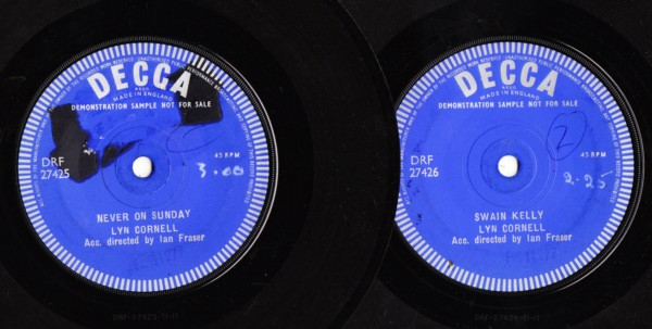 Lyn Cornell - Never on Sunday - Decca Demo 2 Disc 3870