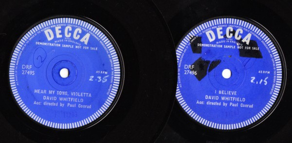 David Whitefield - I Believe - Decca Demo 2 Disc 3864