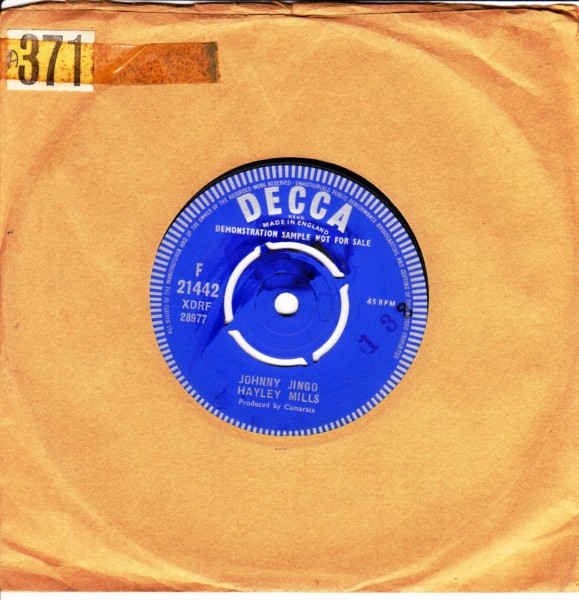 Hayley Mills - Jeepers Creepers - Decca Demo 3832