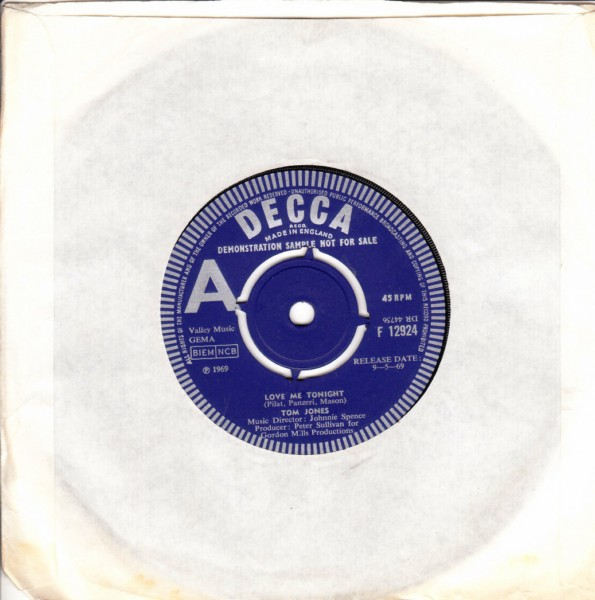 Tom Jones - Love me Tonight - Decca Demo 1969