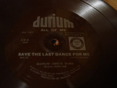 Durium Dance Band - All of me - Durium EN 8 Flexidisc
