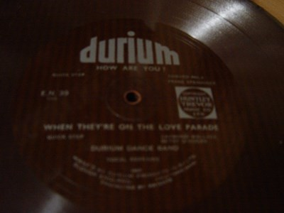Durium Dance Band - How are you - Durium EN 39 Flexidisc