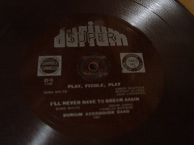 Durium Accordion Band - Play fiddle play - Durium O-2 Flexidisc
