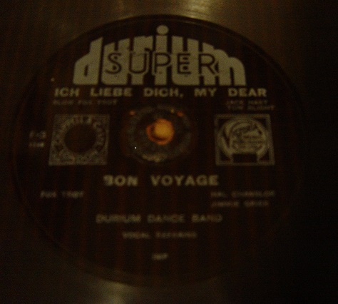 Durium Dance Band - Bon Voyage - Durium F-3 Flexidisc