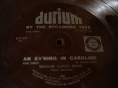 Durium Dance Band - By the Sycamore - Durium EN 38 Flexidisc