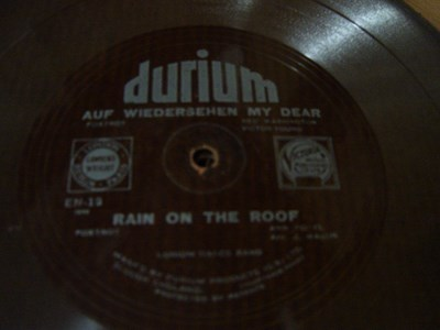 Durium Dance Band - Rain on the Roof - Durium EN 12 Flexidisc