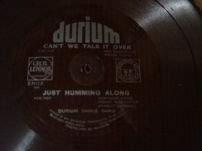 Durium Dance Band - Just humming along - Durium EN 13 Flexidisc