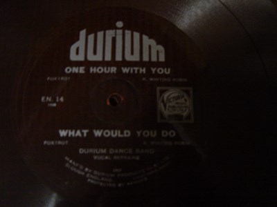 Durium Dance Band - One hour with you - Durium EN 14 Flexidisc