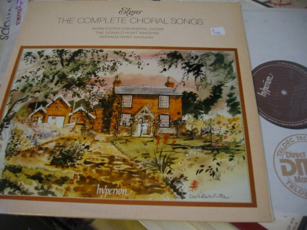 ELGAR - COMPLETE CHORAL - DONALD HUNT - HYPERION R 438