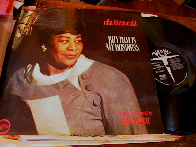 ELLA FITZGERALD - RHYTHM IS MY BUISNESS - VERVE J 897
