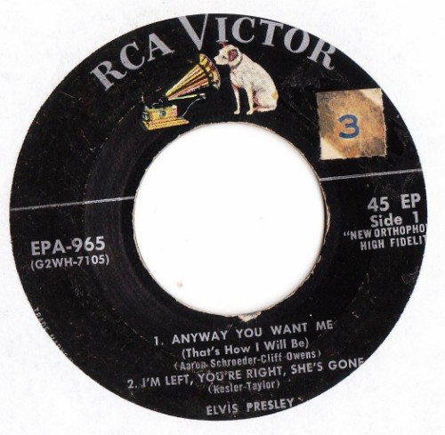 ELVIS PRESLEY - ANYWAY YOU WANT ME - EP - RCA # 2406
