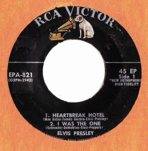 ELVIS PRESLEY - HEARTBREAK HOTEL - RCA # 2407