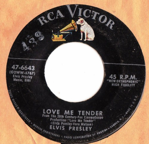 ELVIS PRESLEY - LOVE ME TENDER RCA # 2412