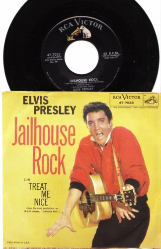 ELVIS PRESLEY - PS TREAT ME NICE - RCA 7035 # 2416