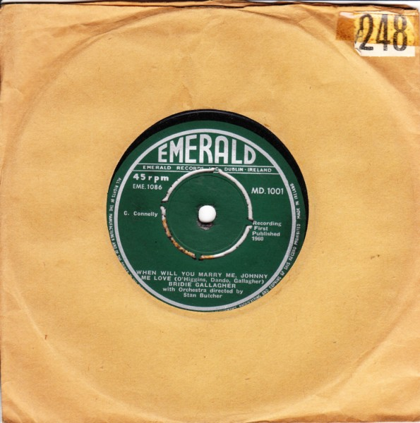 Bridie Gallagher - Emerald MD.1001 1960