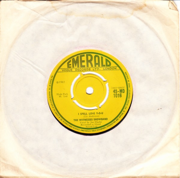 Emerald MD.1016 - The Witness Showband 1965