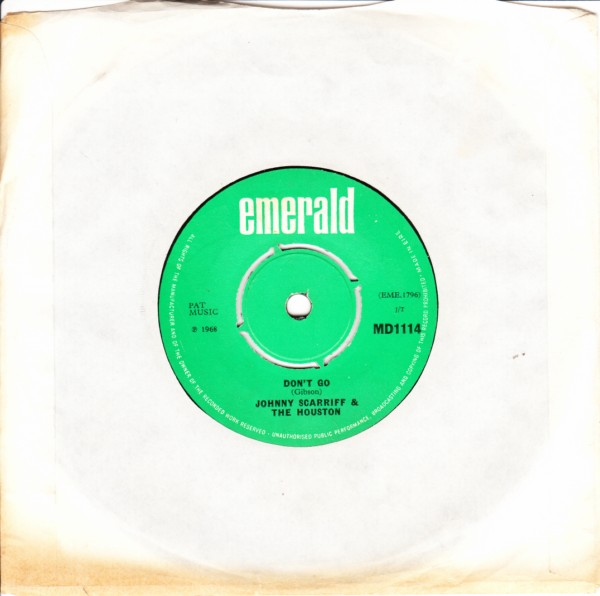 Emerald MD.1114 - Johnny Scarriff & The Houstons 1968