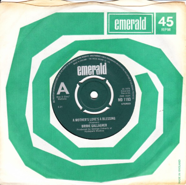 Emerald MD.1193 - Bridie Gallagher - 1976 Demo