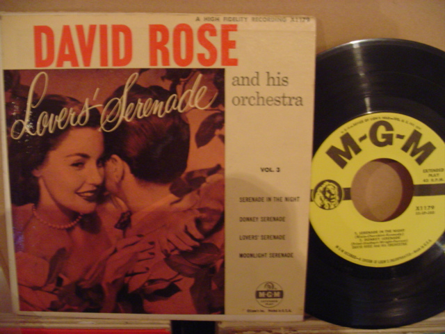 DAVID ROSE - LOVERS SERENADE - MGM EP