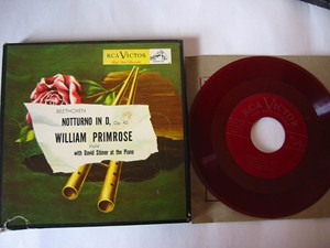 Beethoven - Notturno - William Primrose Viola - RCA EP SET