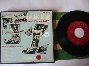 FRANKIE LAINE - ONE FOR BABY - COLUMBIA