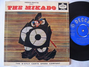 The Mikado - Highlights - D'Oyly Carte Opers - Decca UK EP