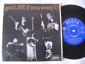 The Rolling Stones - Got Live if you want it - Decca UK EP