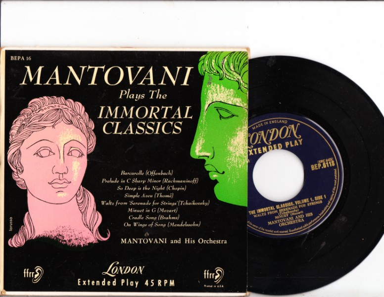 MANTOVANI - Imortal Classics - 2 DISC EP LONDON