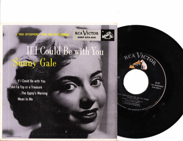 SUNNY GALE - If I could be with you - RCA EPA 600