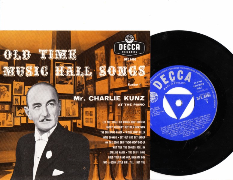 CHARLIE KUNZ - Old Time Music DECCA DFE 6490 EP