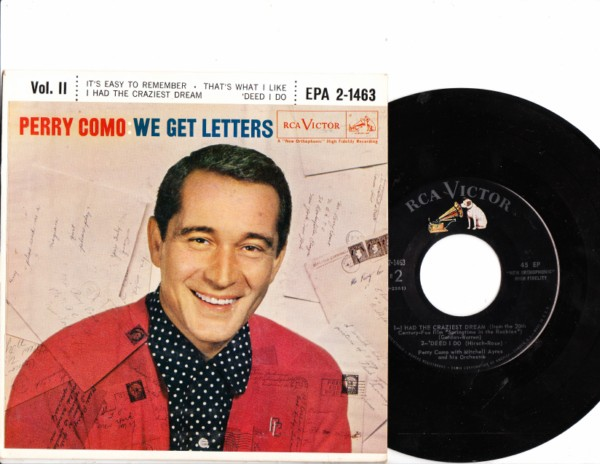 PERRY COMO - We get Letters - RCA EPA 2-1463