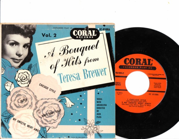 Teresa Brewer - Boquet of Hits - Coral EP
