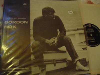GORDON BOK - TUNE FOR NOVEMBER - FOLK LEGACY { Z 256