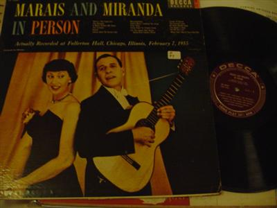 MARAIS & MIRANDA - IN PERSON - DECCA { Z 97