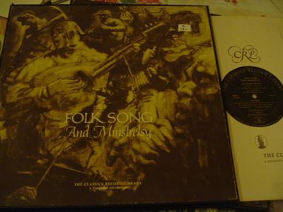 VARIOUS - FOLK SONGS & MINSTRELYS - VANGUARD 4LP { Z 131
