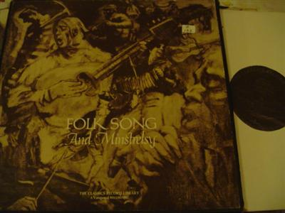 VARIOUS - FOLK SONGS & MINSTRELYS - VANGUARD 4LP { Z 132