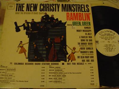 NEW CHRISTY MINSTRELS - RAMBLIN - COLUMBIA PROMO { Z 169