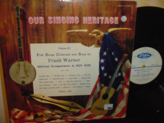 FRANK WARNER - FOLK SONGS - Z 23 ELEKTRA