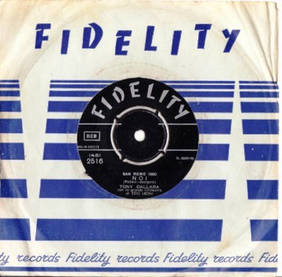 Tony Dallara - Perderti - Fidelity Label Greek Pressing