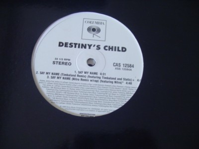 DESTINYS CHILD - SAY MY NAME - COLUMBIA 2 DISC { K 250