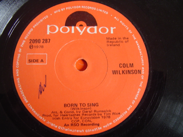 COLM WILKINSON - BORN TO SING - POLYDOE 1978