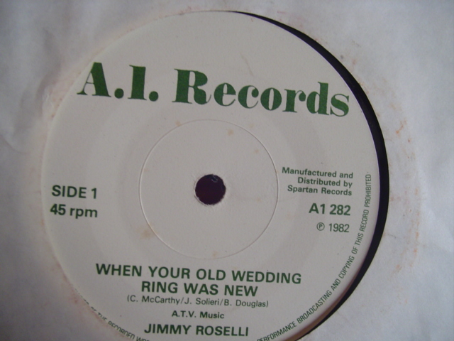 JIMMY ROSELLI - WHEN WEDDING RING WAS NEW - 1982