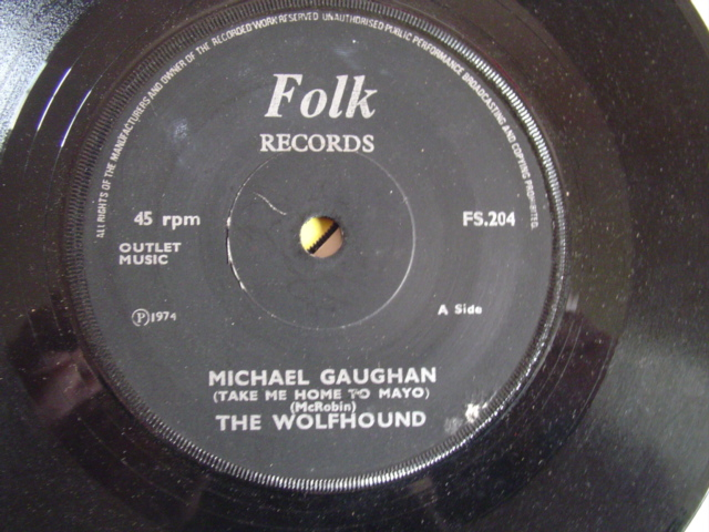 THE WOLFHOUNDS - MICHAEL GAUGHAN - FOLK 204